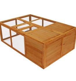 vidaXL Dierenkooi inklapbaar hout