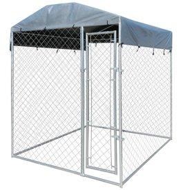 vidaXL Hondenkennel voor buiten met dak 2x2 m