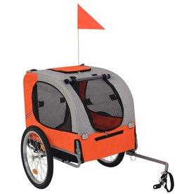 vidaXL Hondenfietskar oranje en grijs