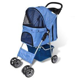 vidaXL Wandelwagen voor hond blauw