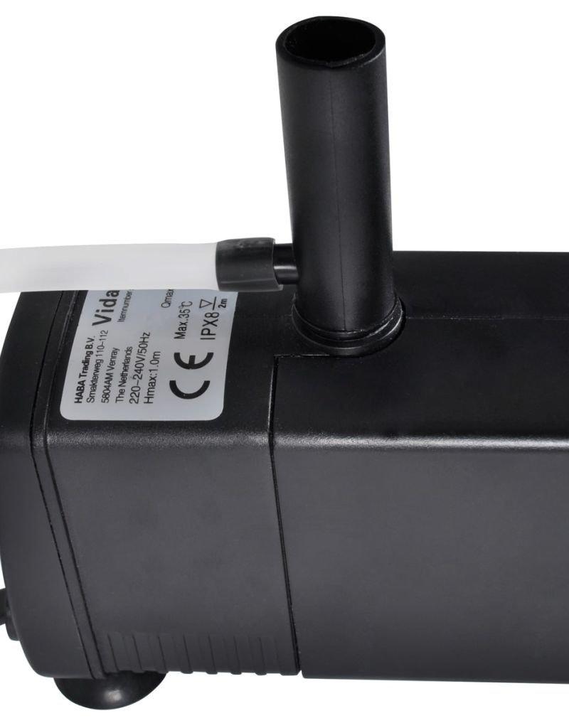 vidaXL Aquarium Filter Pomp met actieve koolstof 600L / u