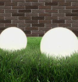 vidaXL LED-bollampen 2 st rond 25 cm PMMA