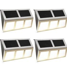 vidaXL Solarlampen LED-lichten warm wit 4 st
