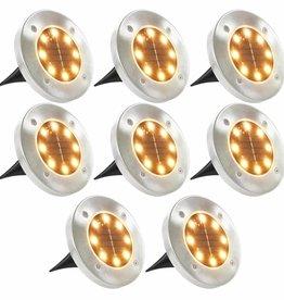 vidaXL Solargrondlampen LED-lichten warm wit 8 st
