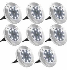 vidaXL Solargrondlampen LED-lichten wit 8 st