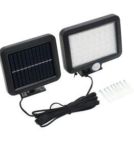 vidaXL Solarlamp met bewegingssensor LED-lichten wit