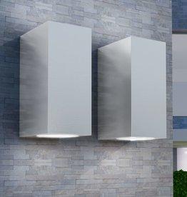 vidaXL LED-buitenwandlampen 2 st vierkant op-/neerwaarts