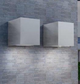 vidaXL Buitenlamp kubusvormig 2st