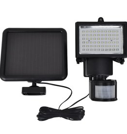 vidaXL Buitenverlichting zonne-energie LED tuinlamp met sensor zwart