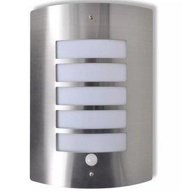 vidaXL Sierlijke RVS wandlamp met bewegingssensor
