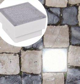 vidaXL LED verzonken vloerlampen 12 st 100x100x68 mm