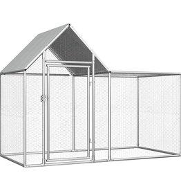 vidaXL Kippenren 2x1x1,5 m gegalvaniseerd staal