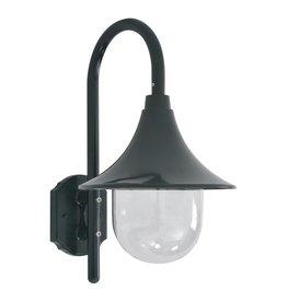 vidaXL Tuin wandlamp E27 42 cm aluminium donkergroen