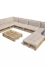 vidaXL 21-delige Loungeset pallet zandwit
