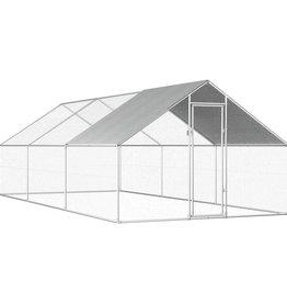 vidaXL Buitenhok voor kippen 2,75x6x2 m gegalvaniseerd staal