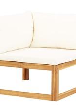 vidaXL 6-delige Loungeset met kussens massief acaciahout