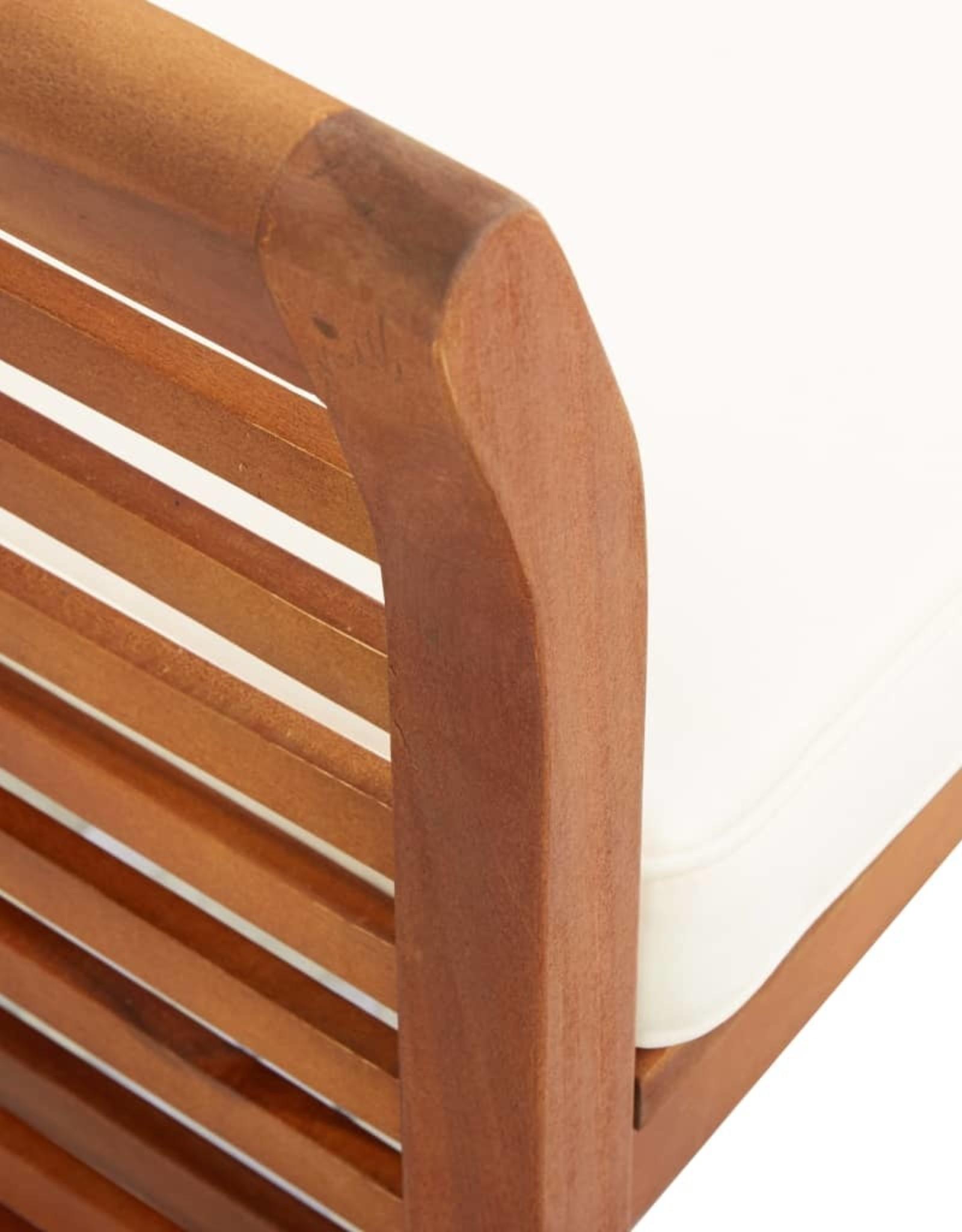 vidaXL 5-delige Tuinset met kussens massief acaciahout