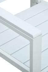 vidaXL 3-delige Bistroset hout-look HDPE wit
