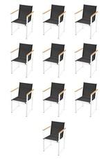 vidaXL 11-delige Tuinset met HKC tafelblad aluminium
