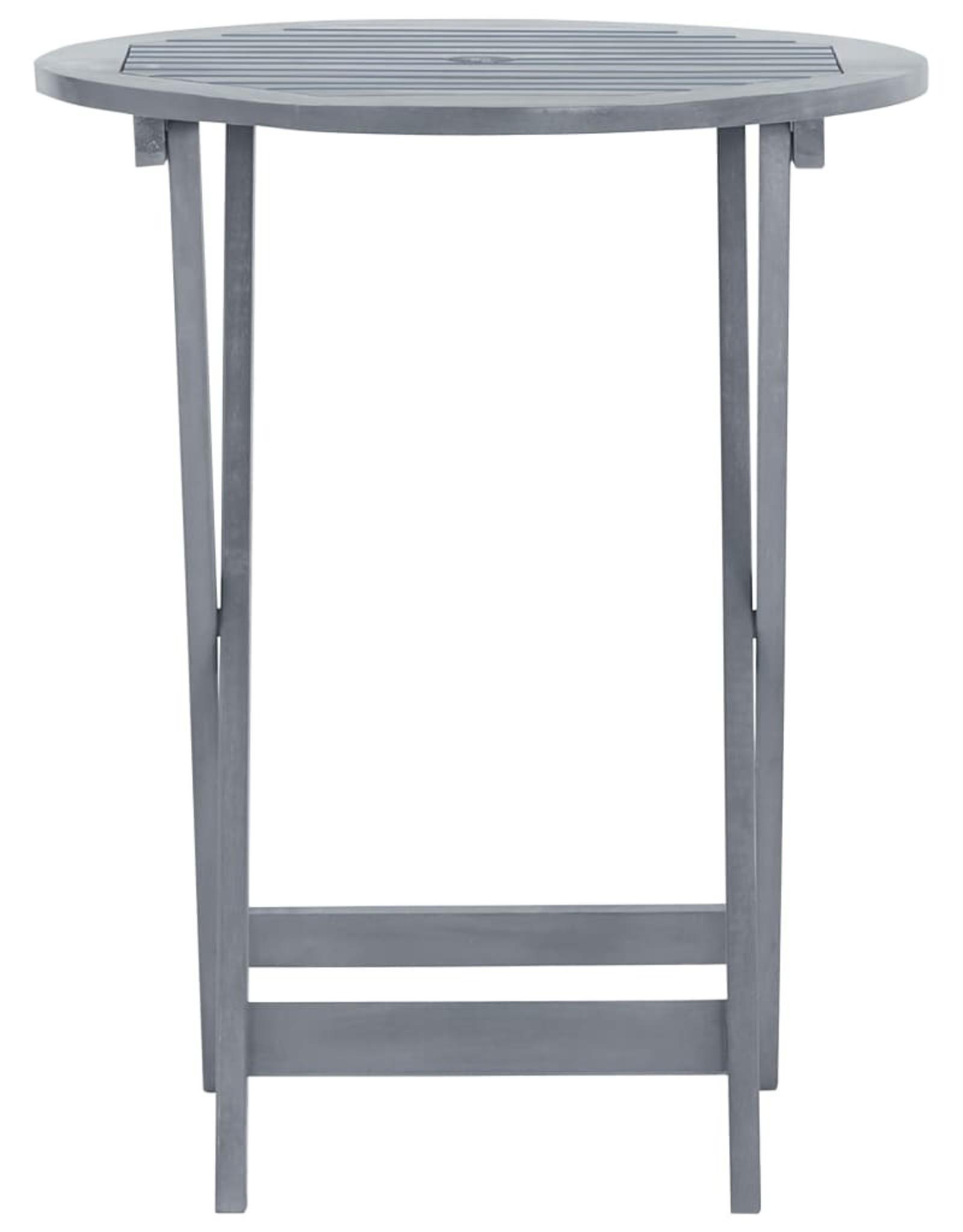 vidaXL 3-delige Bistroset massief acaciahout grijs