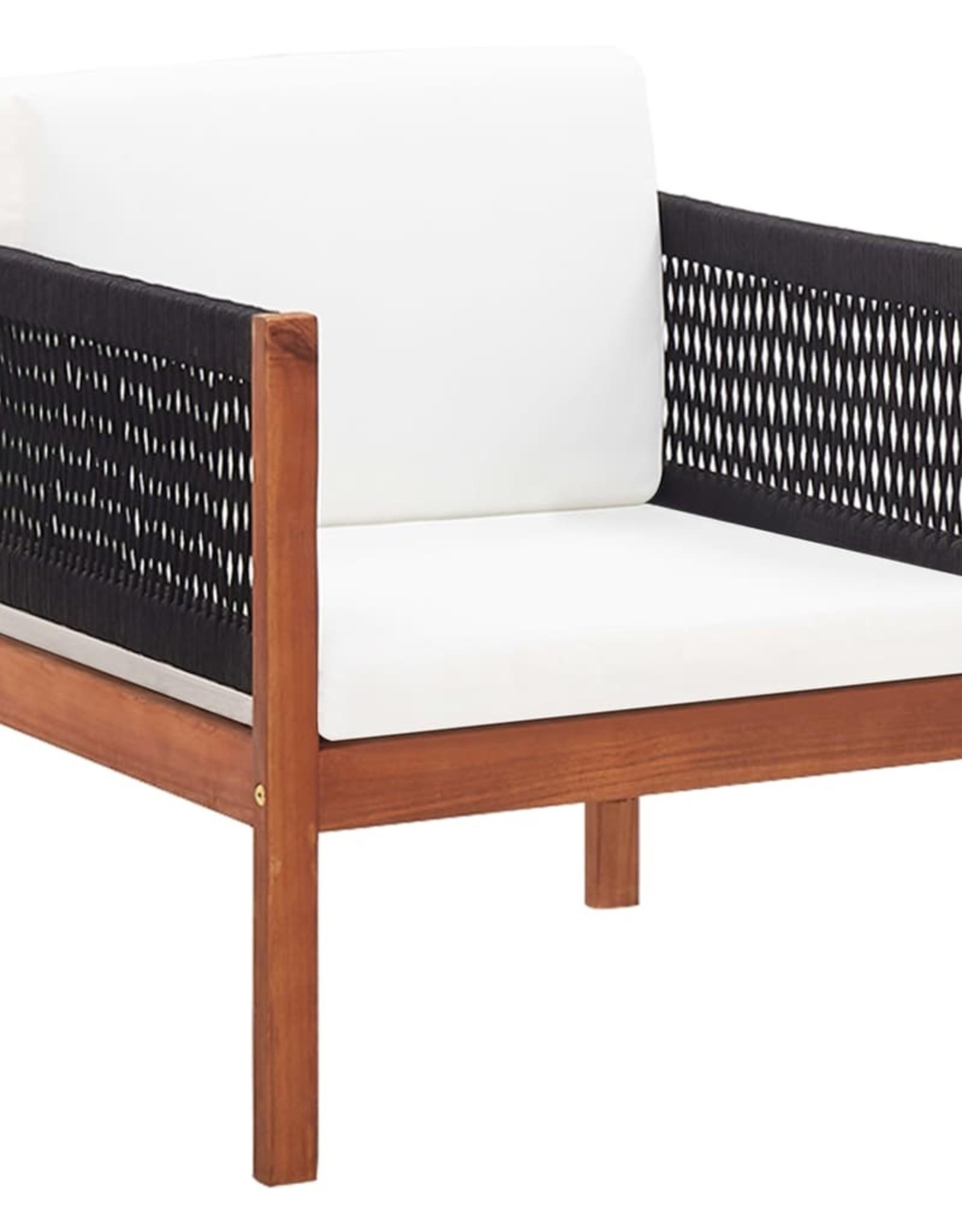 vidaXL 4-delige Loungeset massief acaciahout