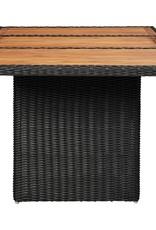 vidaXL 11-delige Loungeset poly rattan zwart