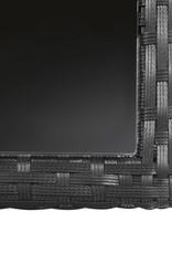 vidaXL 3-delige Tuinset met kussens poly rattan zwart