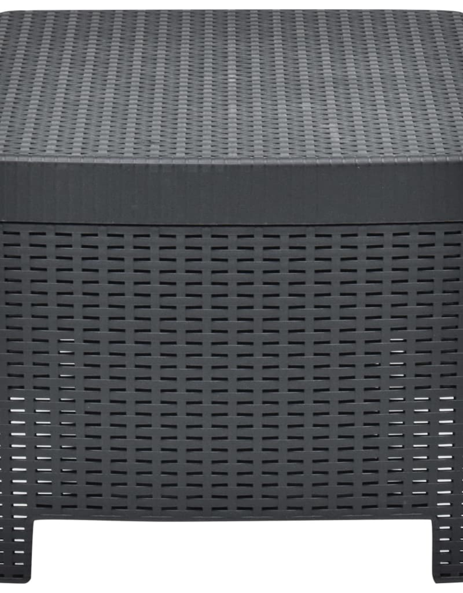 vidaXL 3-delige Loungeset kunststof antraciet