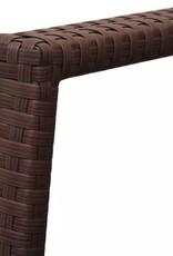 vidaXL 3-delige Bistroset poly rattan bruin