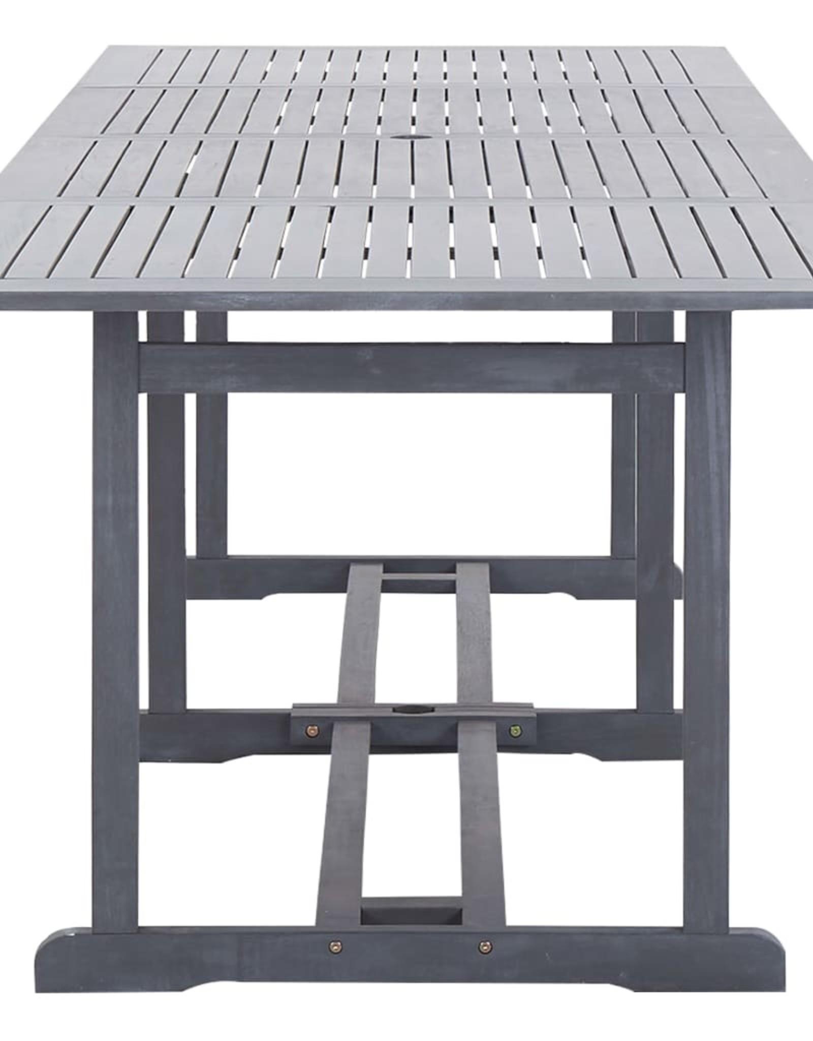 vidaXL 13-delige Tuinset massief acaciahout grijs