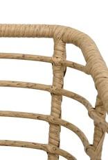 vidaXL 3-delige Bistroset poly rattan eikenkleurig