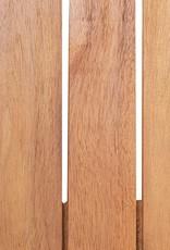 vidaXL 5-delige Tuinset poly rattan acaciahout grijs