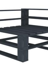vidaXL 5-delige Loungeset pallet hout grijs