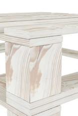 vidaXL 5-delige Loungeset pallet hout wit