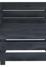 vidaXL 4-delige Loungeset pallet hout grijs