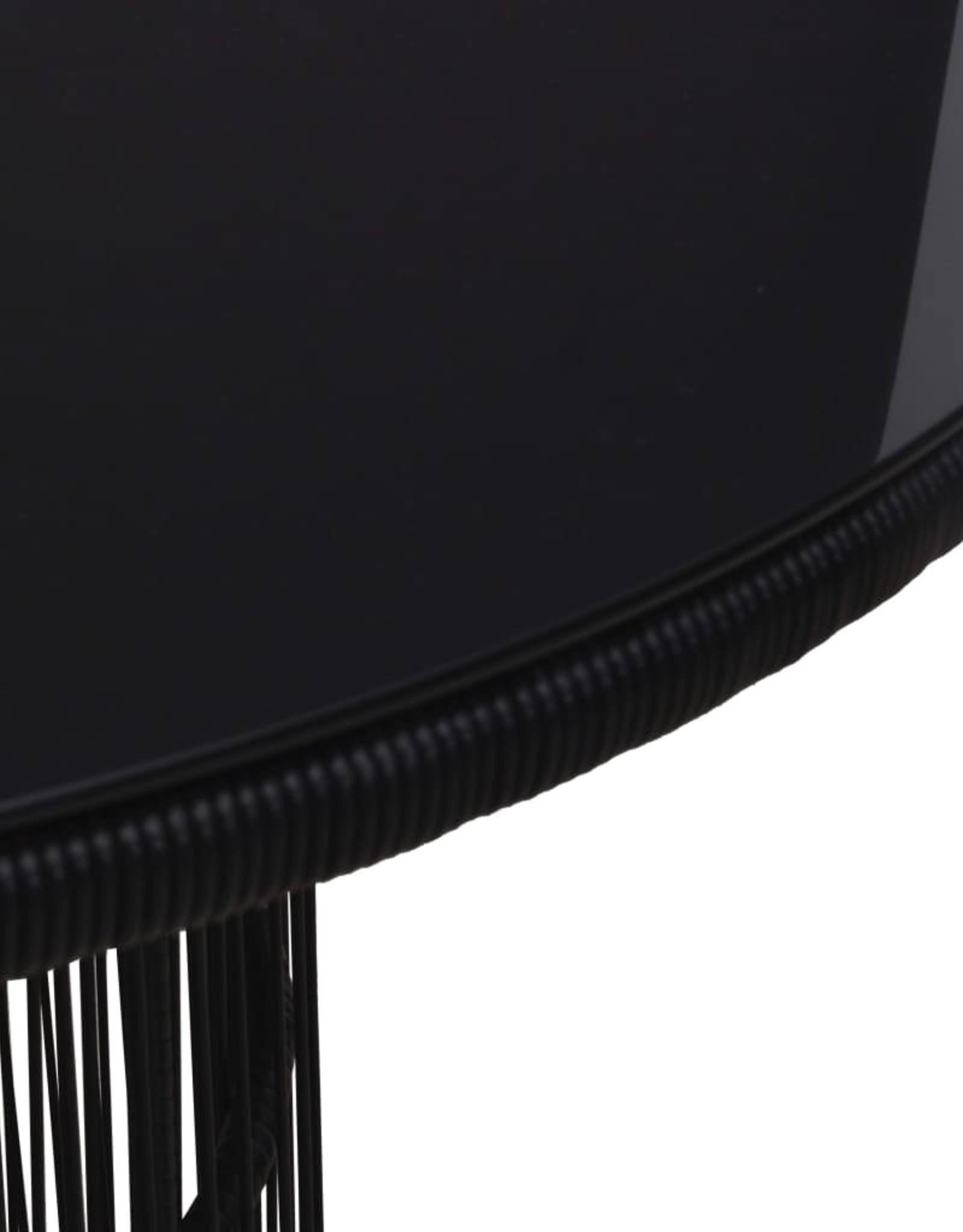 vidaXL 7-delige Eethoek met kussens PVC-rattan zwart
