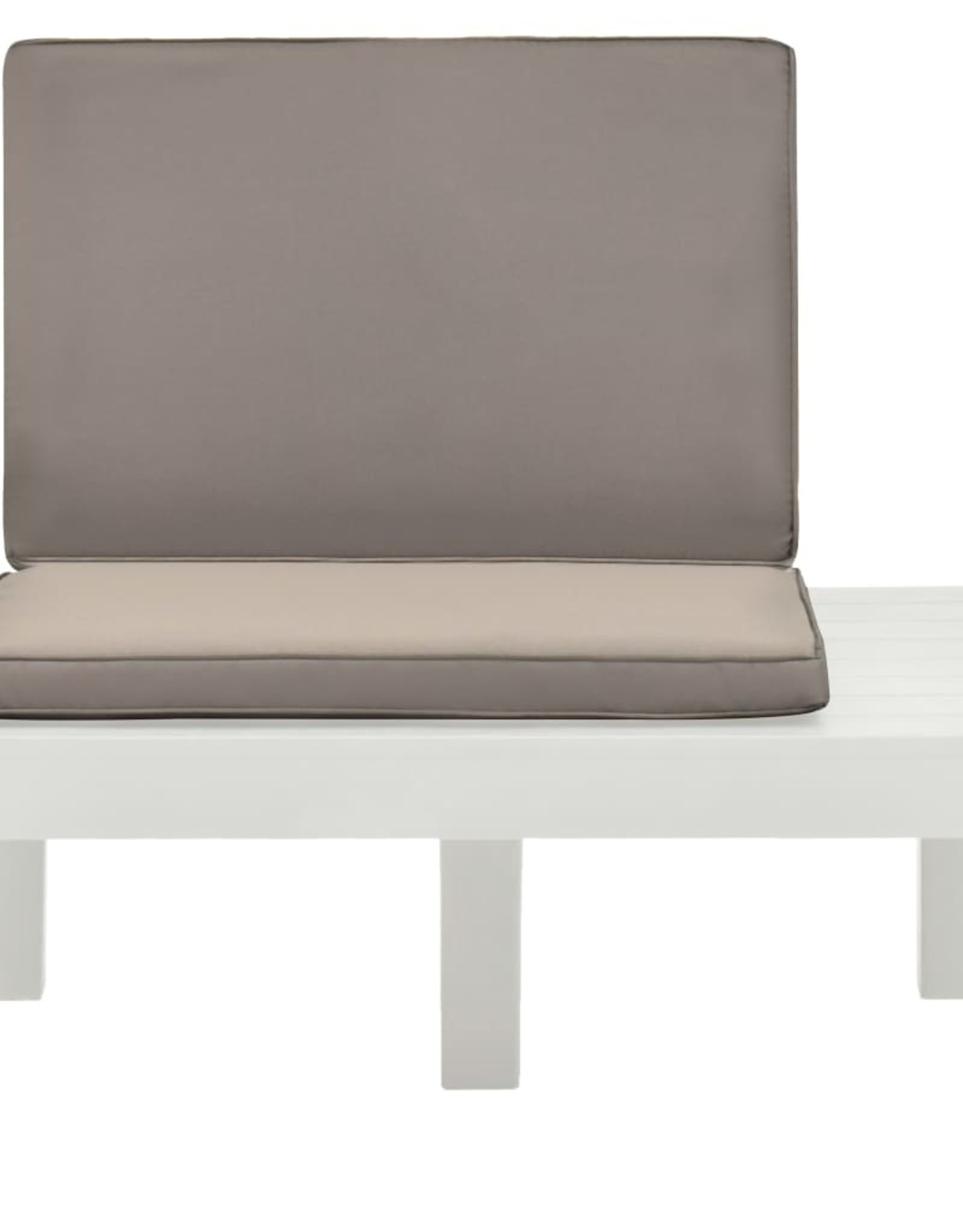 vidaXL 5-delige Loungeset kunststof wit