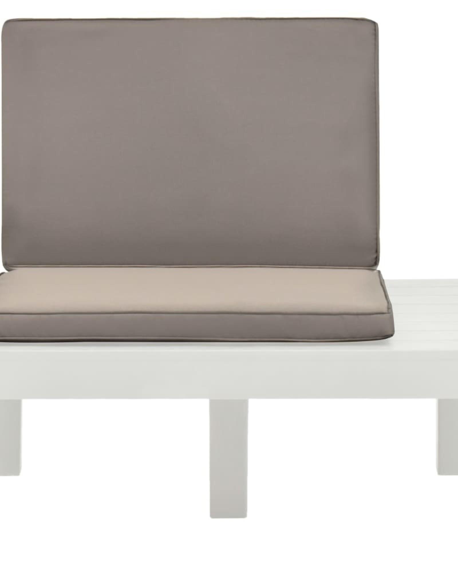 vidaXL 3-delige Loungeset kunststof wit