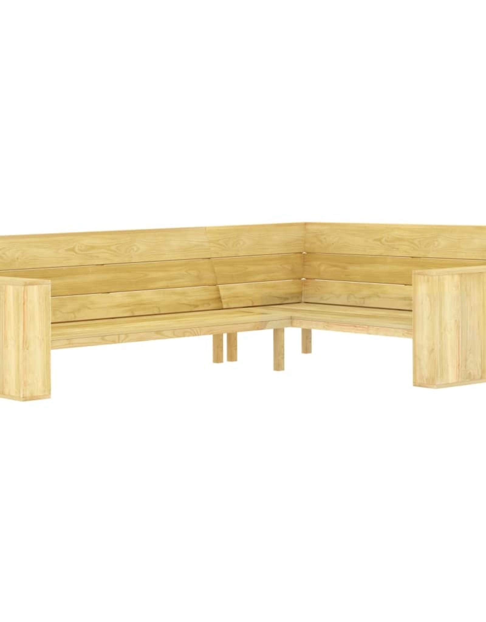 vidaXL 2-delige Loungeset geïmpregneerd grenenhout
