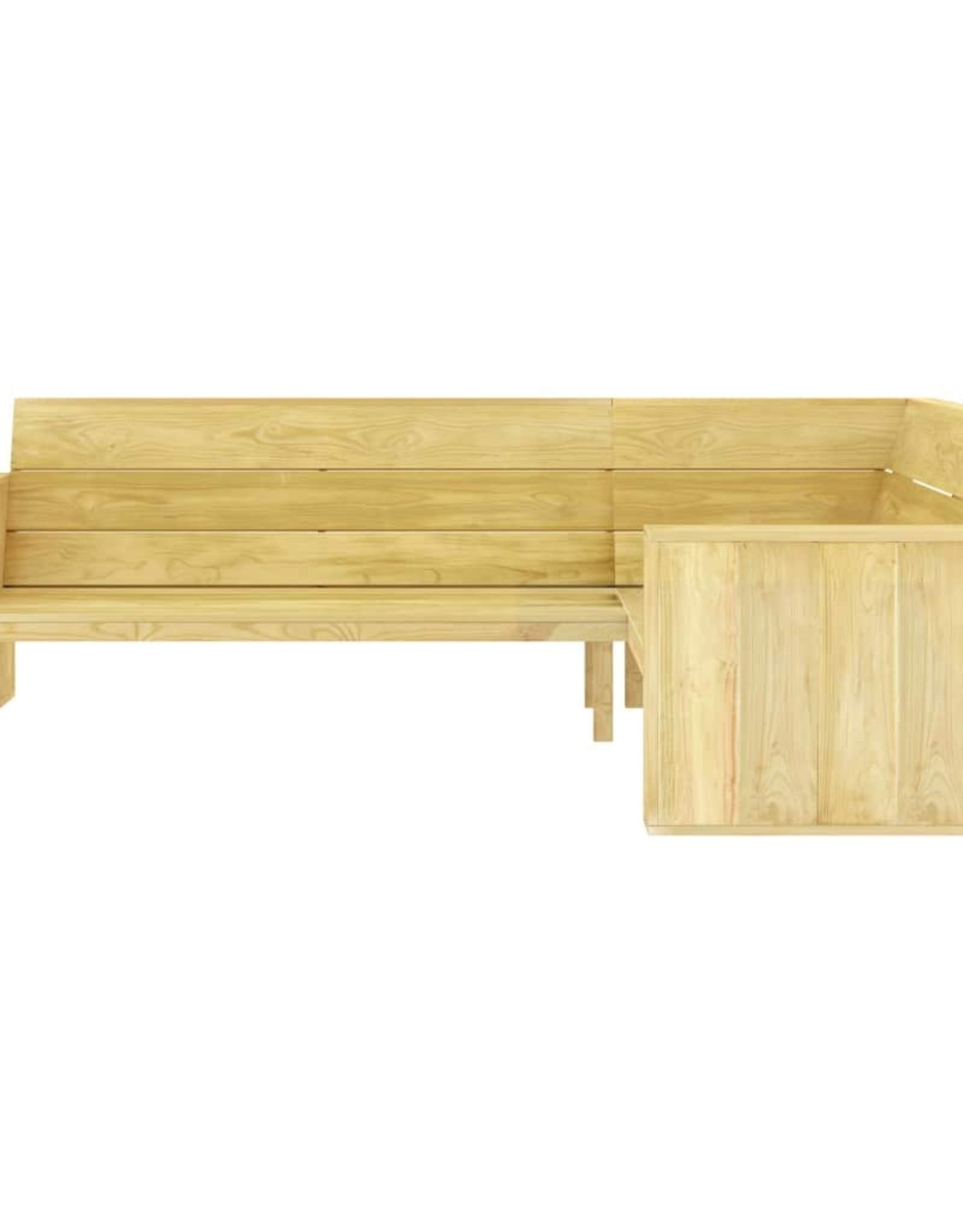 vidaXL 3-delige Loungeset geïmpregneerd grenenhout