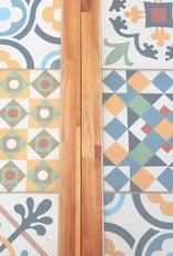vidaXL 5-delige Tuinset mozaïektegelblad en massief acaciahout