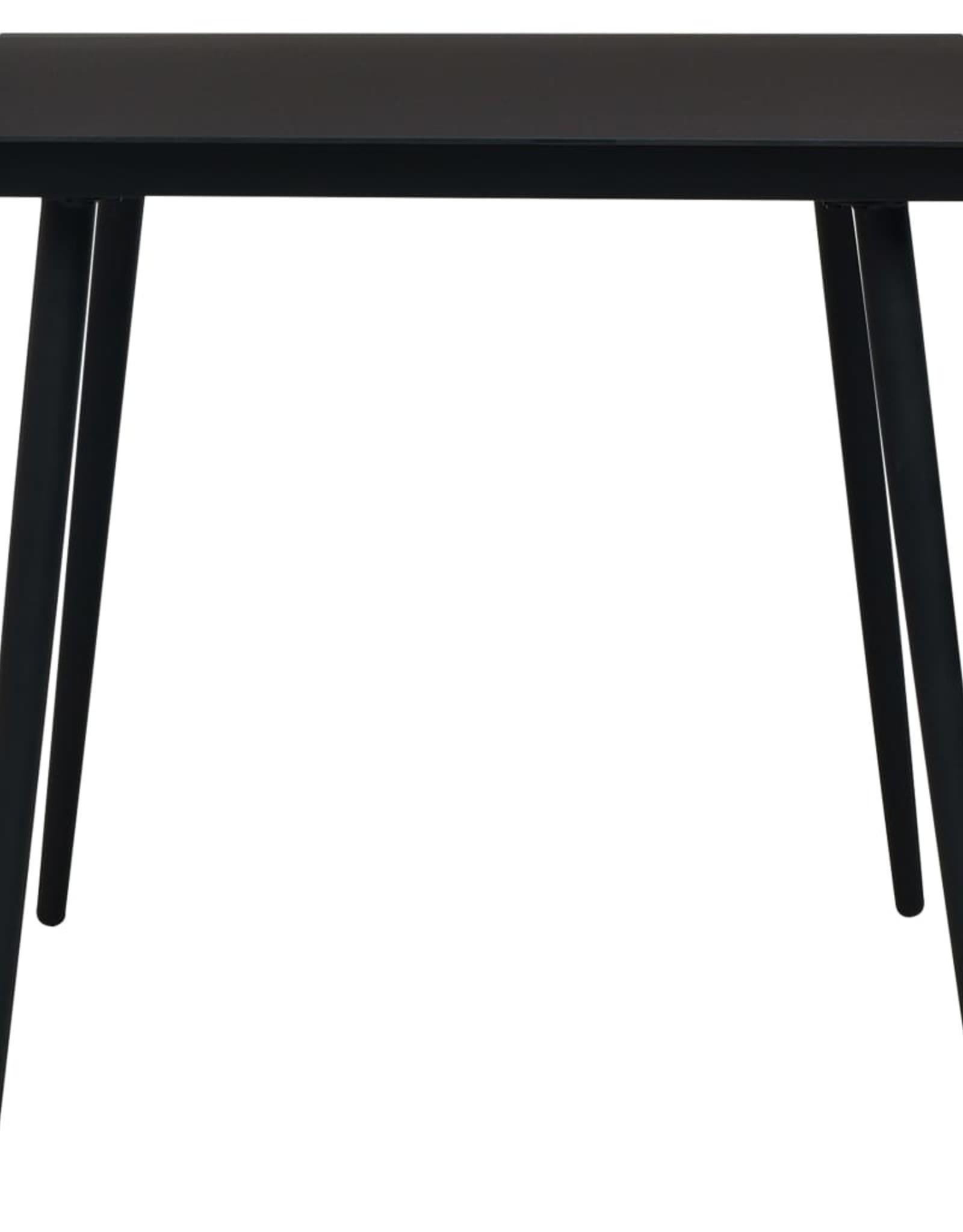 vidaXL 5-delige Tuinset katoenen touw en staal zwart