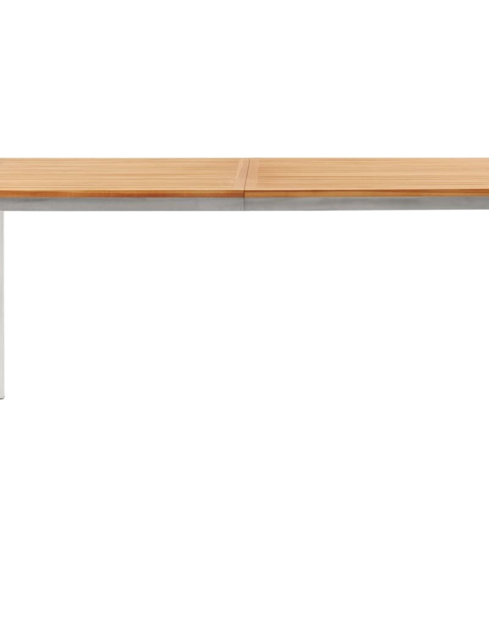 vidaXL 5-delige Tuinset massief teakhout en roestvrij staal