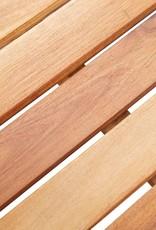 vidaXL 5-delige Tuinbarset poly rattan en acaciahout grijs