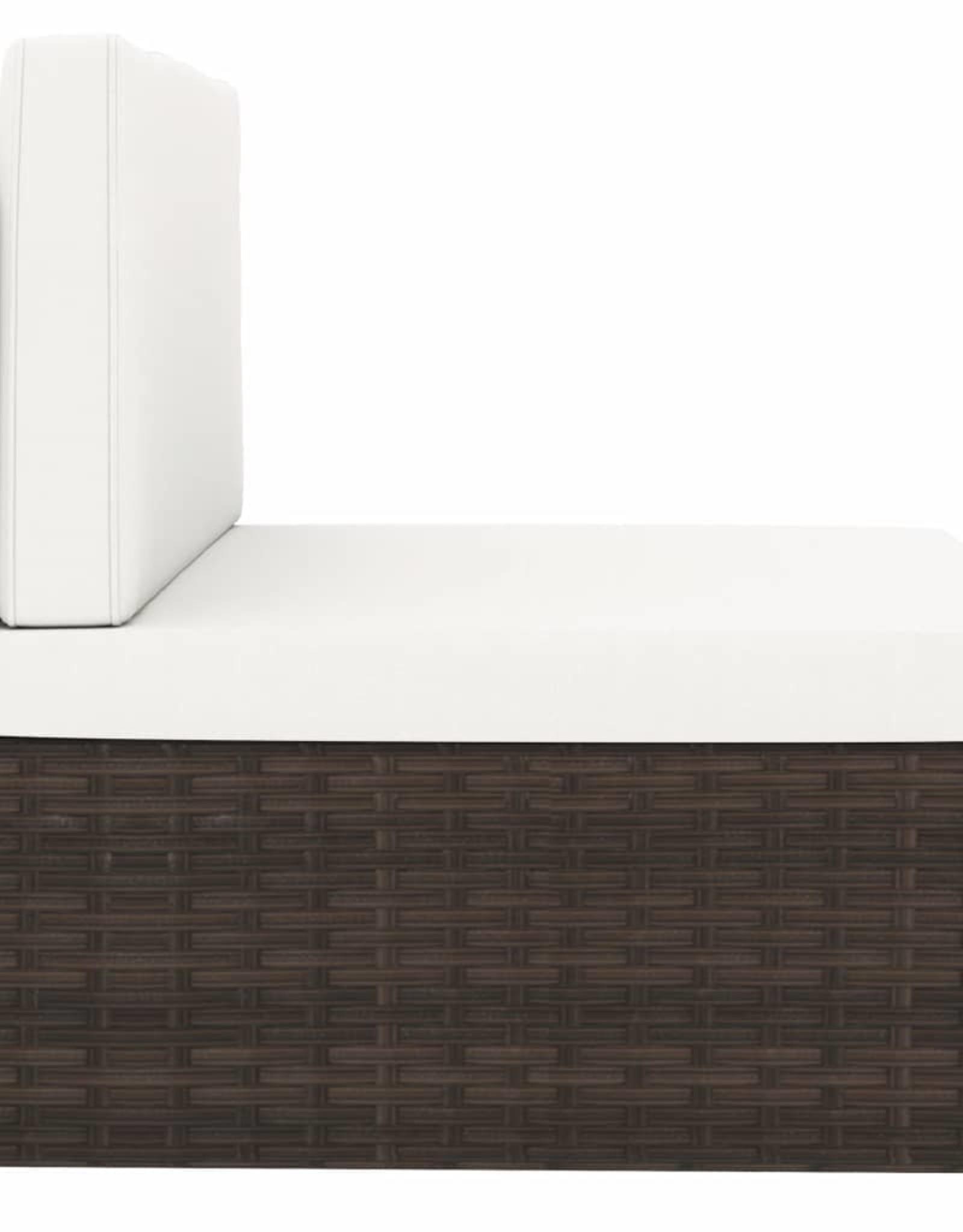 vidaXL 10-delige Loungeset poly rattan bruin