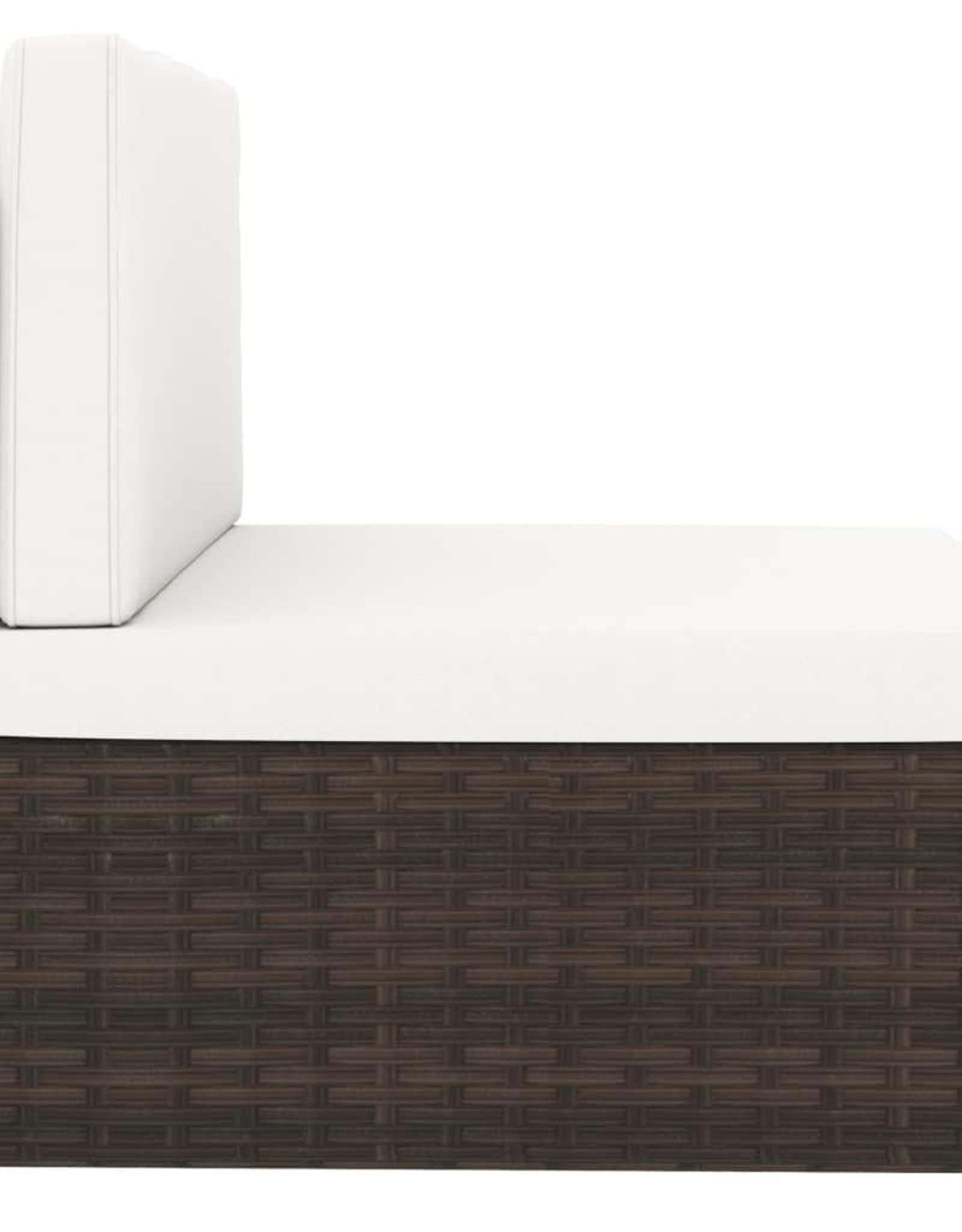vidaXL 4-delige Loungeset poly rattan bruin