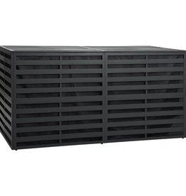 vidaXL Tuinbox 200x100x100 cm aluminum antraciet