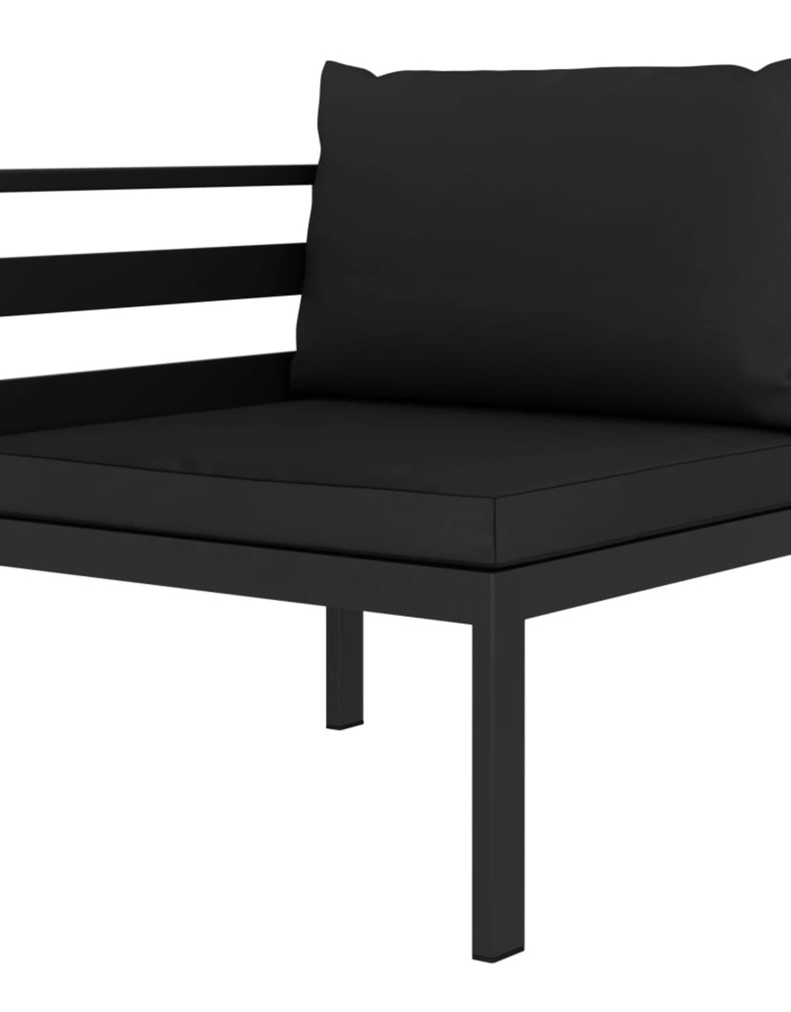 vidaXL 2-delige Loungeset met kussens aluminium antraciet