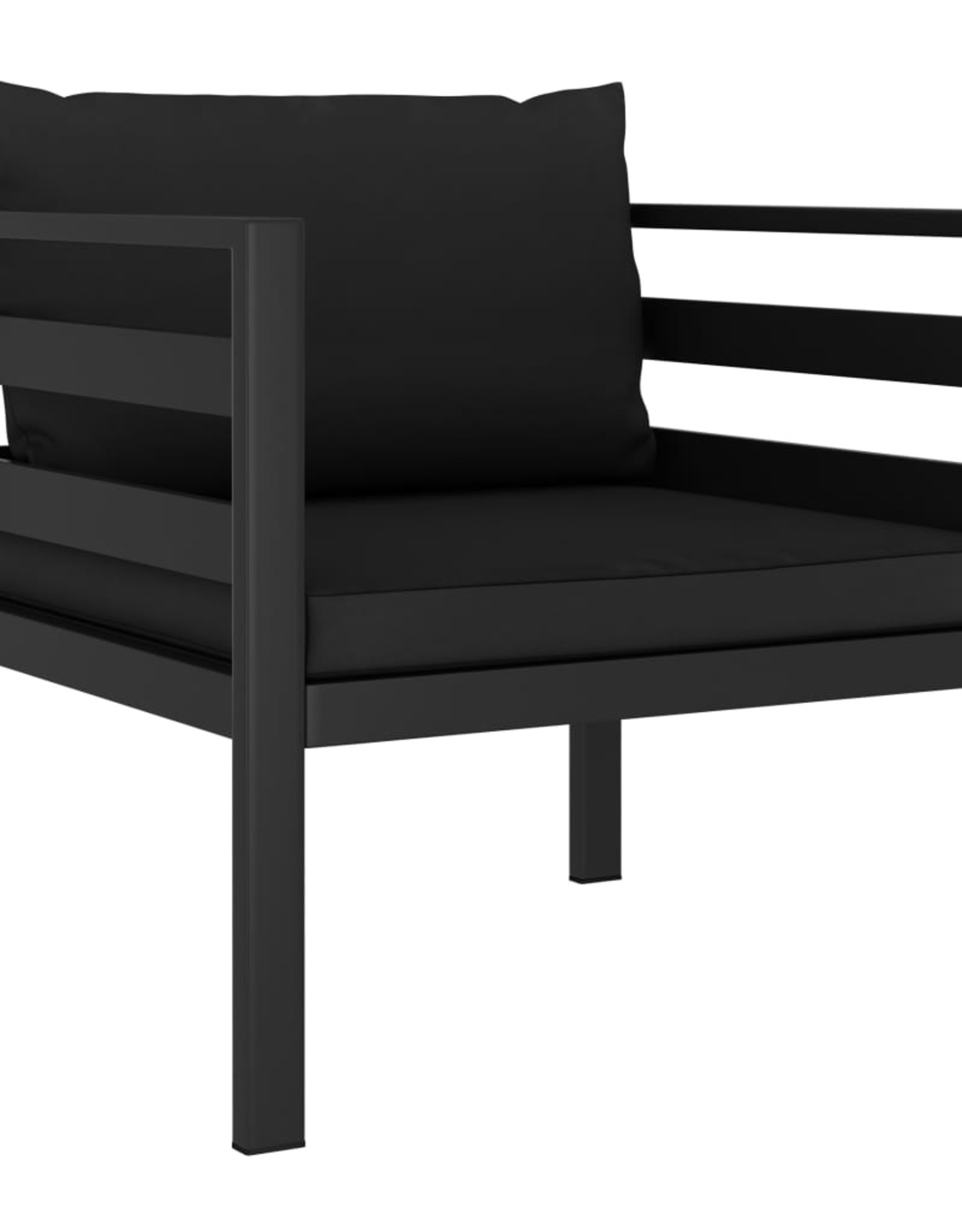 vidaXL 5-delige Loungeset met kussens aluminium antraciet