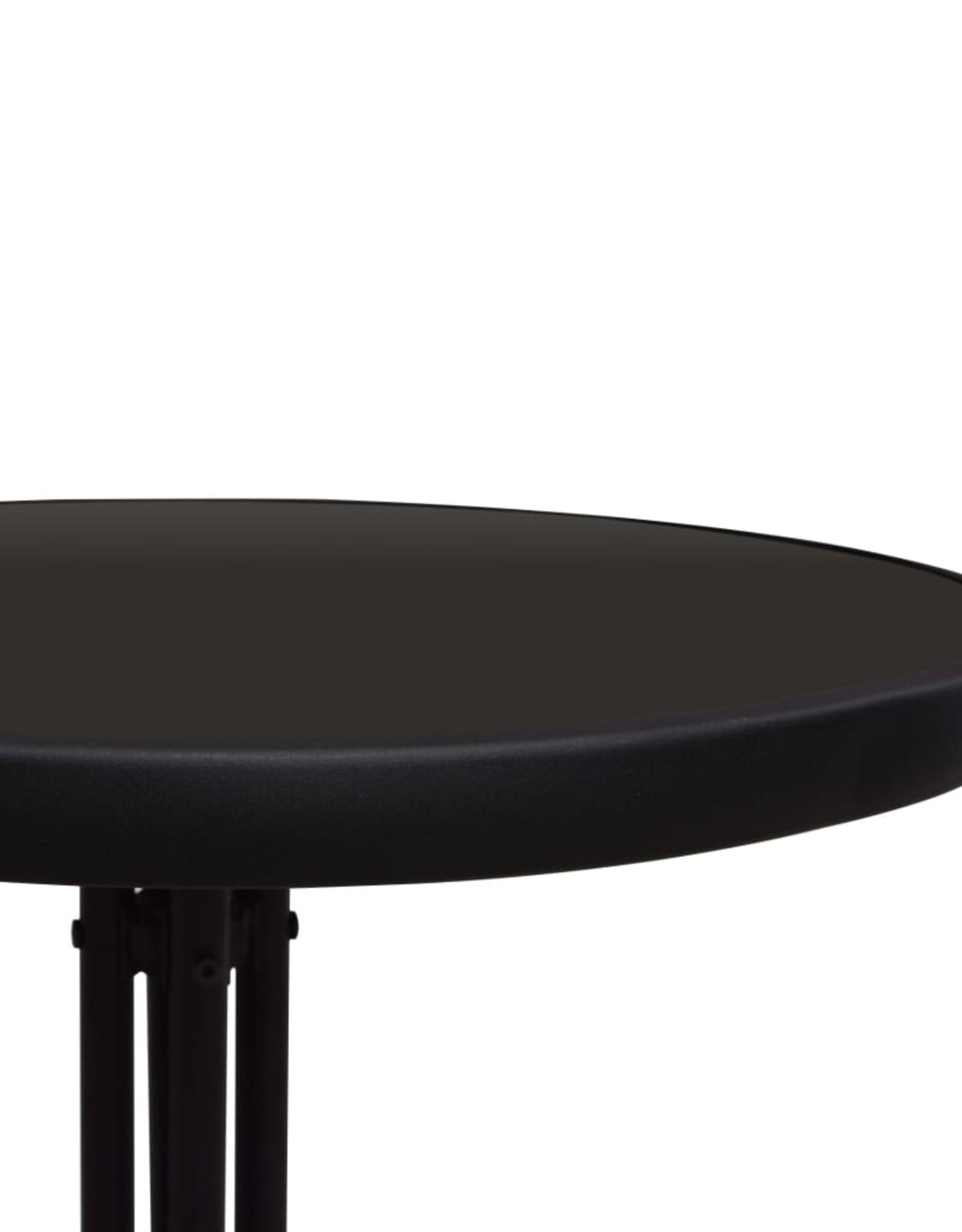 vidaXL 3-delige Bistroset PVC-rattan zwart